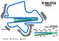 Malaysia Formula 1 Grand Prix  - Circuit of Sepang map