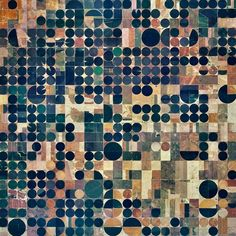Pivot irrigation fields cover the landscape north of Copeland, Kansas, USA. Powered by electric motors, lines of sprinklers rotate 360 degrees to evenly irrigate crops. VIA @dailyoverview