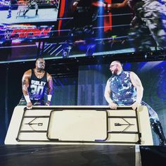 The #DudleyBoyz bring some reinforcements to the ring tonight in #WWECardiff! #GetTheTables #WWE @motorpointarenacardiff