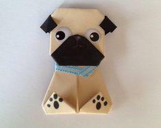 61 Ideas Origami Bookmark Pug For 2019 Origami Dog, Origami Mouse, Origami Star Box, Kids Origami, Origami Fish, Useful Origami, Origami Animals, Origami Ideas, Origami Folding