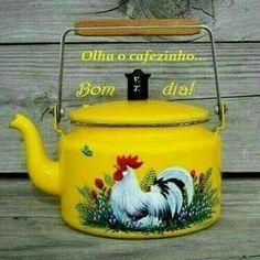 Painted teapot w/chicken Rooster Kitchen Decor, Rooster Decor, Painted Pots, Hand Painted, Teapot Crafts, Decoupage, Chicken Painting, Rooster Art, Tea Pot Set