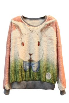 Lovely Rabbit Print Sweatshirt