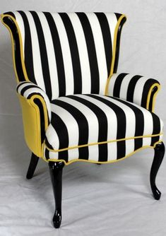 Love this chair, love the colour combination #blackandwhite #yellow #chair