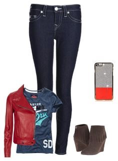 """Sans titre #651"" by harrystylesandliampayne ❤ liked on Polyvore featuring True Religion, Yves Saint Laurent and Chinese Laundry"