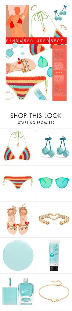 """""""Caribbean Kool."""" by s-elle ❤ liked on Polyvore featuring Seafolly, Rosie Assoulin, Floats, Elina Linardaki, LC Lauren Conrad, JINsoon, St. Tropez, Nails Inc., Jennifer Zeuner and vacation"""
