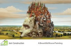A #Beautiful House Painting - Art Fantasy, #Jeniconstruction offers you to build houses, apartments, flats in Chennai at affordable range.