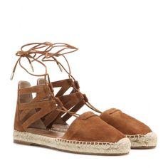 Aquazzura - Belgravia suede espadrille sandals - mytheresa.com