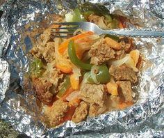 Hobo Tin Foil Stew Camping Recipes For KidsThe Dinner Is Just Some Basic Meat And Veggie Ingredients Cooked Together In A Pouc