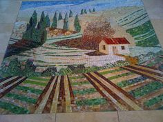floor mosaic at Monarch Dunes/Trilogy Nipomo CA