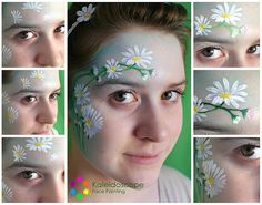Step by Step Daisies by Jennifer Parker @ Kaleidoscope Face Painting, via Flickr