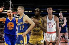 All time Golden State Warriors starting five