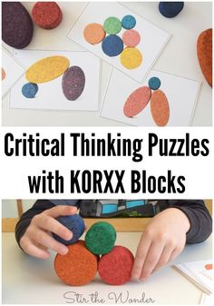 Download and print these fun critical thinking puzzles to play and learn with KORXX blocks, an eco-friendly toy for kids of all ages! #sponsored #korxx