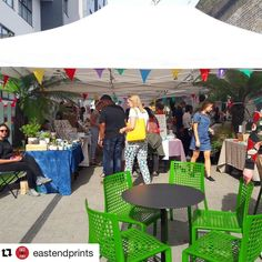 #Repost @eastendprints  Lots of brightness at the #designfair today! Come along - down westgate street under the arches #londonfields