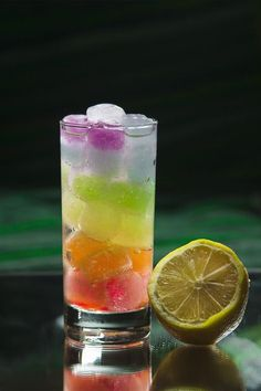 Picture of Rainbow Ice Cocktail