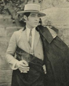 The Italian-born American actor, Rudolph Valentino rose to fame through his starring roles in some well-known silent films during the 1920's era, including