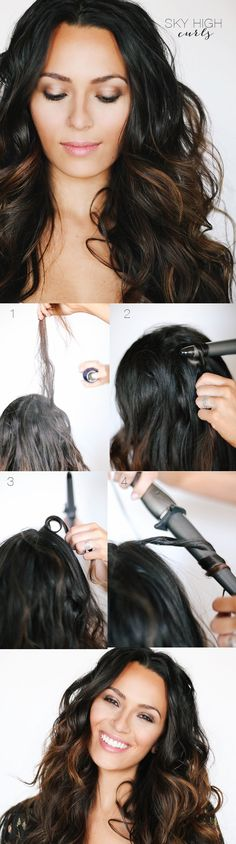 Her hair color.... Love! A quick trick curls that make your hair look super thick!