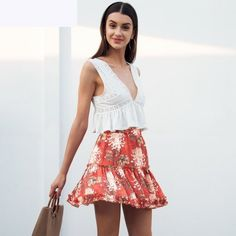 Summery tops and swishy skirts are what we are all about! | The Best Trending Beach Outfits This Season