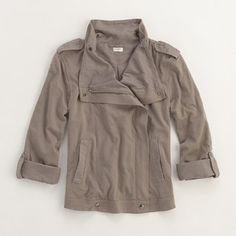 Factory Motorcycle Jacket: I have been forever on a quest for the perfect jacket. Also in dark pewter. On sale $49.99  #Jacket #J_Crew