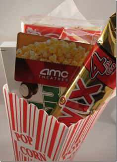 Great idea for movie gift card!