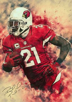 Zapista Patrick Peterson Illustration Fine Art Print Football Sports Poster Home Wall Decor Unframed x Football Art, Football Helmets, College Football, Football Uniforms, Football Players, Arizona Cardinals Wallpaper, Patrick Peterson, Arizona Cardinals Football, University Of Phoenix Stadium