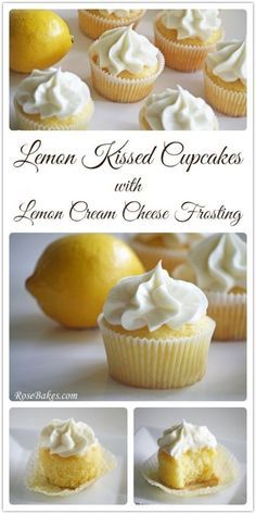 Lemon Kissed Cupcakes with Lemon Cream Cheese Frosting