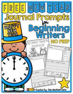 FREE New Year Journal Prompts for Beginning and/or Struggling Writers!