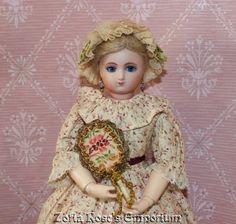 French Fashion Doll Accessory Small Fireside Fan Gold by Zofia Rose's Emporium | eBay