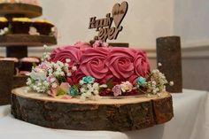 Budget wedding cake ideas rose cake Sainsbury's log slice happy ever after