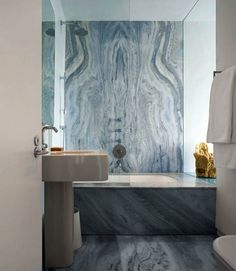 Blue Book-Matched-Marble