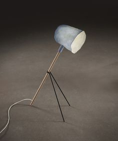 Perchées (Perched) Lamps, by Elise Gabriel, have shades made from Zelfo, a cellulose material based on upcycled fibre-based waste which is recycled into a biodegradable highly versatile composite.