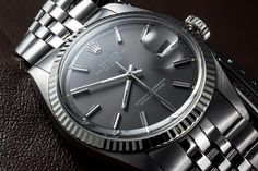 Rolex datejust grey dial - what a great looking watch!