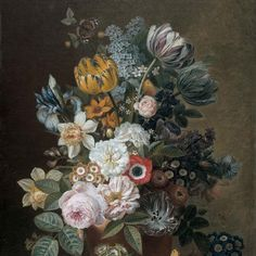 Still Life with Flowers, Eelke Jelles Eelkema, 1815 - 1839 - Rijksmuseum Wallpaper Panels, Of Wallpaper, Floral Bouquets, Floral Flowers, Pink Gifts, Floral Style, Vintage Gifts, As You Like, Home Gifts