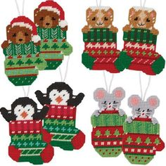 Craftways® Christmas Critters Plastic Canvas Ornaments Plastic Canvas Kit