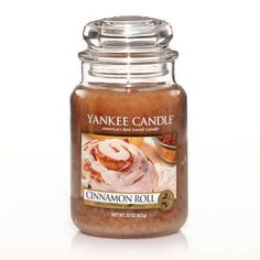 Yankee Candle Cinnamon Roll : So hard to resist ... the deliciously perfect blend of creamy rich frosting and spicy cinnamon.