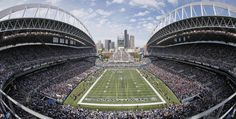 Seattle Since 2002, the Seattle Seahawks have played in the 69,000-capacity CenturyLink Field. The Seattle stadium was designed by Minnesota-based firm Ellerbe Becket.