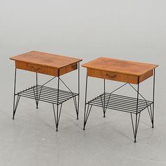 SÄNGBORD, ett par, String-modell, 1950/60-tal. Mid Century, Future, Retro, Bedroom, Inspiration, Design, Home Decor, Home, Biblical Inspiration