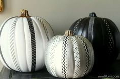 Washi tape is super-easy to apply (just peel and stick!), but always adds drama to holiday decor.Get... - Lil' Luna