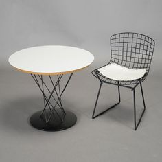 Isamu Noguchi for Knoll Child's Table, Model 87, with a Harry Bertoia Wire Child's Chair #michaans #midcenturymodern http://www.michaans.com/highlights/2015/highlights_09122015.php