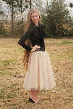 Jupon en tulle : Vintage Style Cream Tulle Skirt  Jade Mackenzie