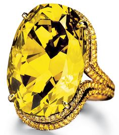 Chopard Chameleon diamond. This $10,000,000 chameleon diamond appears green in bright light but looks yellow in darkness. It is the largest chameleon diamond known to exist.