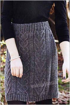 фото вязаной юбки