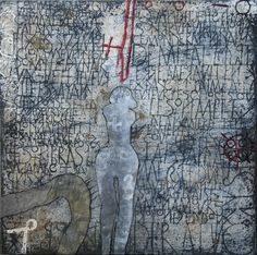 Dis-Moi - Gemengde techniek op doek - 60 x 60 cm - 2009