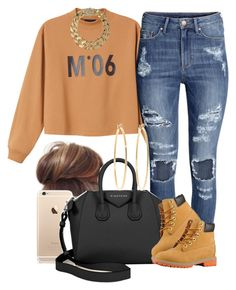 """""""M°06"""" by livelifefreelyy ❤ liked on Polyvore featuring Monki, H&M, Givenchy, Brooks Brothers, Timberland and AllSaints"""
