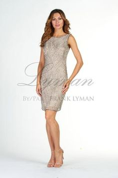 Lyman by Frank Lyman Design. Wow this is sharp! All over Beaded sequin dress.