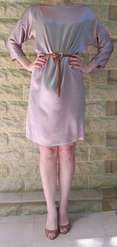Dress New Silk Sleeve 3 / 4 Romantic Russia Moscow от LLiaMoscow, $179.00
