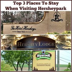 Top 3 places to stay when visiting #Hersheypark. #HersheyPA