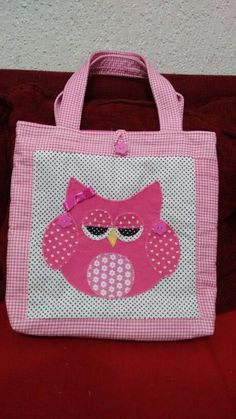 Bolsa coruja rosa