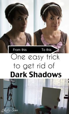 One simple tip that costs under $1 to get rid of shadows in your photos - Melly Sews