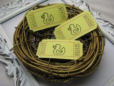 Little Duckie Tickets Baby Shower Games by GoldenNestStudio