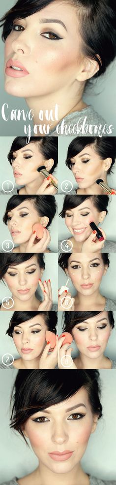 How To Carve Out Your Cheekbones / contour, highlight and blush